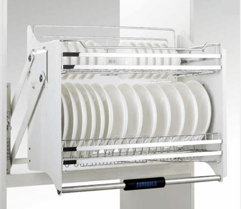Phụ kiện tủ bếp thông minh - Giá chén bát nâng hạ