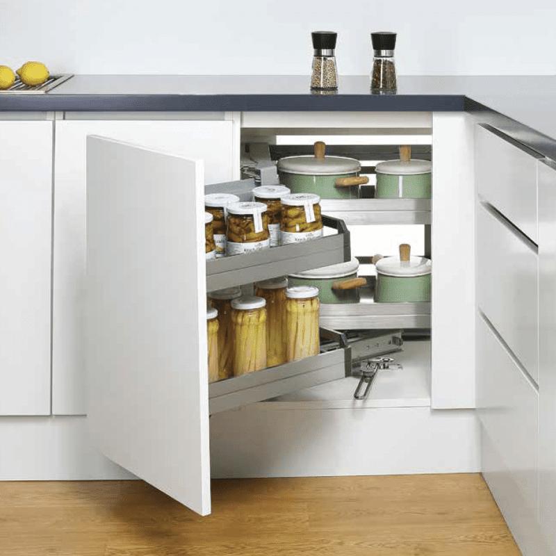 Phụ kiện tủ bếp thông minh - Kệ góc