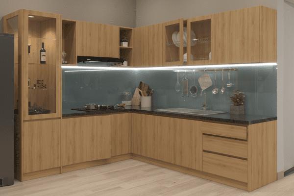 Thiết kế tủ bếp nhà chị Như - biên hòa - 01