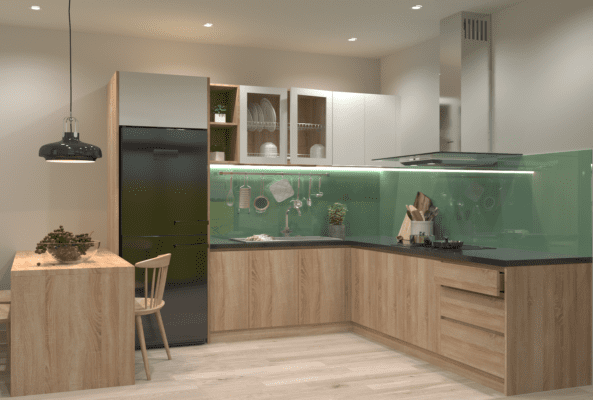 Hình ảnh thiết kế tủ bếp anh Bình 03