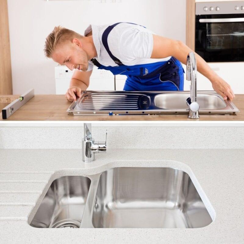Phân loại chậu rửa theo cách lắp đặt