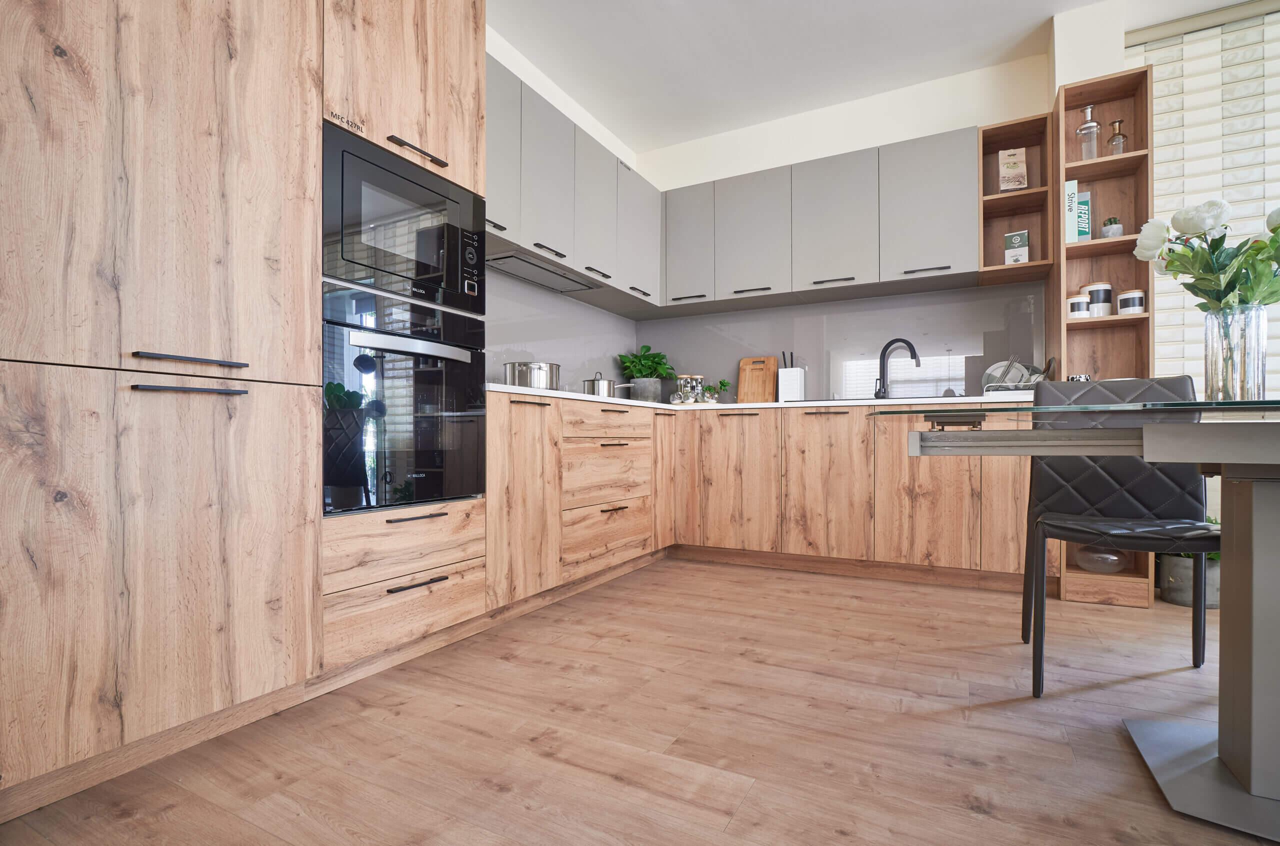 Hình ảnh thực tế tủ bếp gỗ công nghiệp An Cường 01